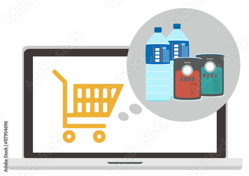Fotografía Online shopping with pc