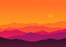 Abstract Background Sunset Sil...