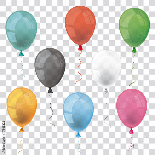 Fototapeta Transparent Balloons Set