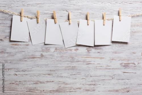 Fotografie, Obraz  Paper hang on clothesline