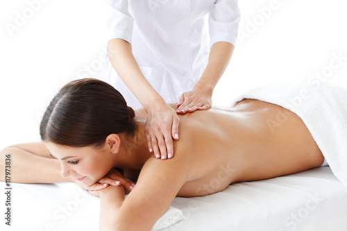Obraz na plátně  Woman getting massage