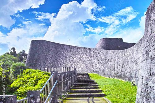 Obraz na płótnie 那覇 首里城の城壁