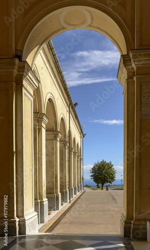 Fotografija  arcade at Madonna della Guardia sanctuary, Genova, Italy