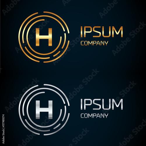 H Letter Logo Icon Templatembolline Style Letterlogotypemodern