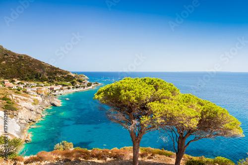 In de dag Kust Elba island sea near Pomonte
