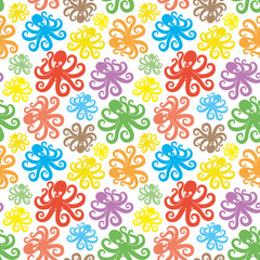 Colorful cute octopus.