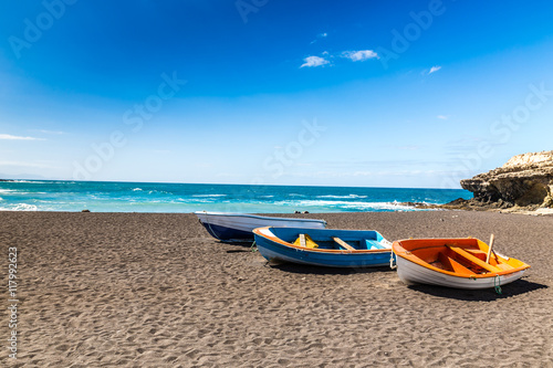 Foto op Plexiglas Canarische Eilanden Beach In Ajuy,Fuerteventura, Canary Islands, Spain