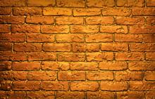 Bronze Brick Wall Background