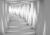 Fototapeta Do przedpokoju - Abstract tunnel in the gray notes. The light at the end of the tunnel