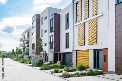 Fotografiet  Moderne Wohnhäuser