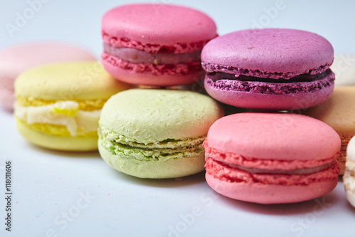 Photo sur Toile Macarons tasty macaroons