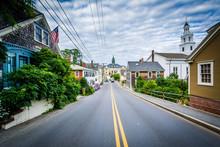 Bradford Street, In Provincetown, Cape Cod, Massachusetts.