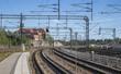 train tracks in Pasila, Helsinki, Finland