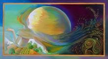 Celtic Moon. Oil Painting On W...