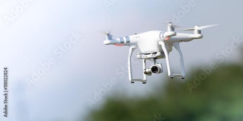 Fototapeta Flying drone in action obraz