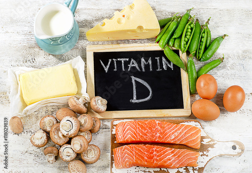 Fototapeta Foods rich in vitamin D. obraz