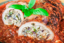 Stuffed Squid With Parmesan Ch...