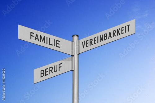 Fotografia  Wegweiser Familie-Beruf-Vereinbarkeit