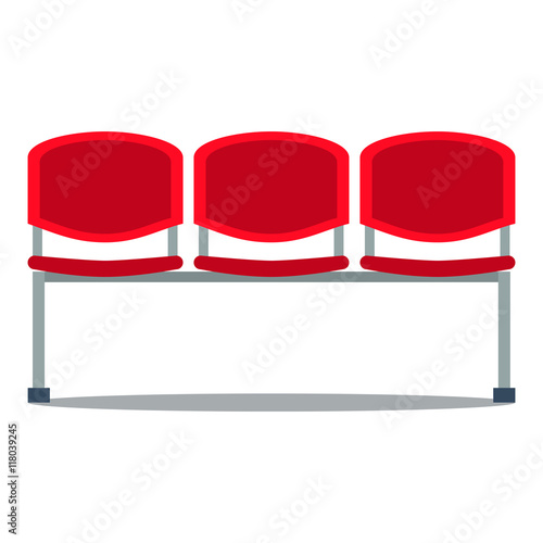Vector illustration of plastic seat Fototapeta