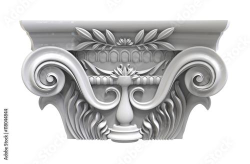 Fotografie, Obraz  Classical white column pedestal