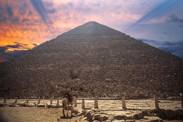 Fototapeta na wymiar pyramids of Giza