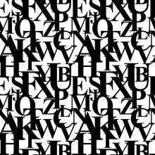 Vector Illustration Of Letters...