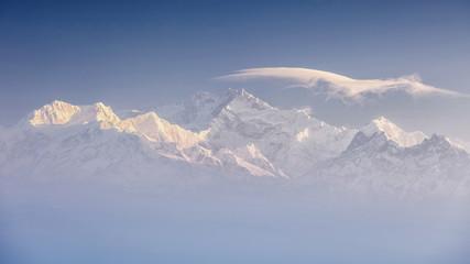 FototapetaKanchenjunga range peak