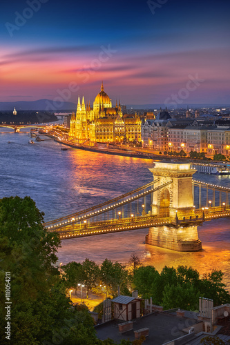 Budapest Hungary at Sunset