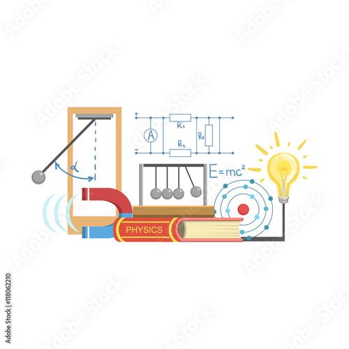 Fotografie, Obraz  Physics Class Set Of Objects