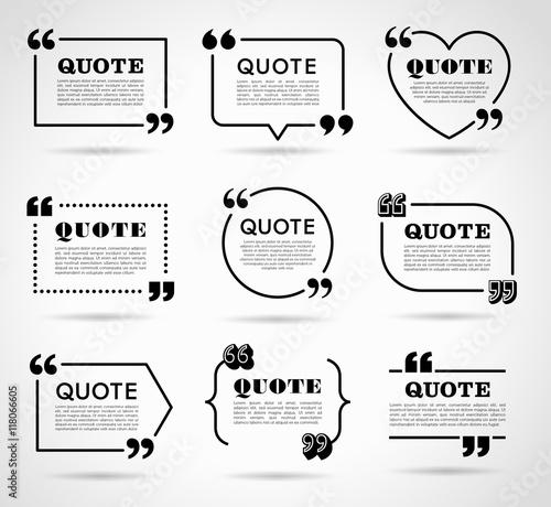 Fototapeta Vector Labels set for Text Quotes obraz