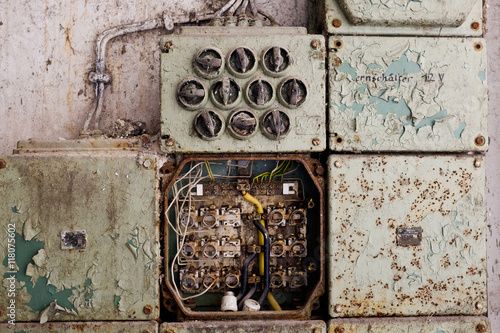 [ZHKZ_3066]  vintage electric panel or fuse box - Buy this stock photo and explore  similar images at Adobe Stock | Adobe Stock | Vintage Fuse Box |  | Adobe Stock