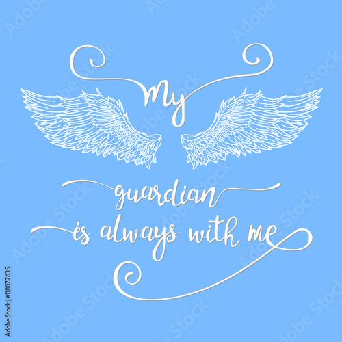 My angel is always with me ангел мой всегда со мной тату