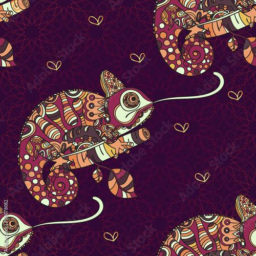 recznie-rysowane-kameleon