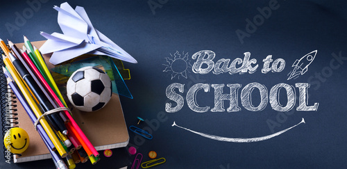 Photo Art welcome Back To School Banner; School Supplies Tumblr