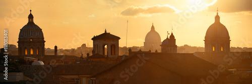 Carta da parati Rome mountain top view sunrise