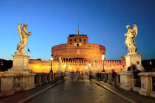 Castel Sant Angelo Rome Night