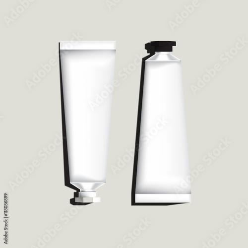 Fotomural White aluminum tubes for packaging