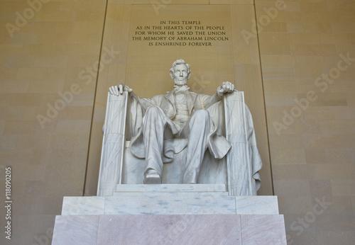 Printed kitchen splashbacks Fairytale World Statua di Abraham Lincoln, Lincoln Memorial in Washington DC