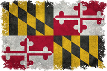 State Flag Of Maryland With Vi...