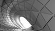 Leinwandbild Motiv Abstract curve of tunnel