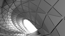 Abstract Curve Of Tunnel