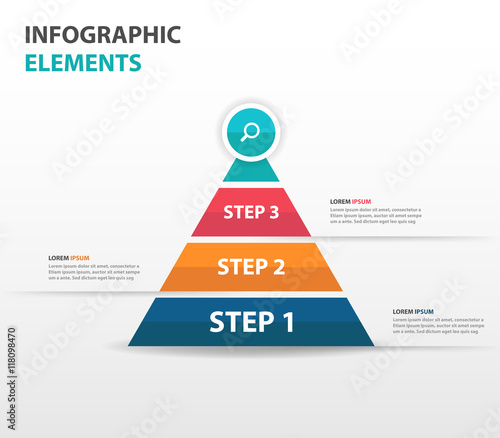 abstract triangle pyramid business infographics elements, Presentation Pyramid Template, Presentation templates