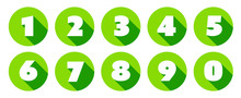 Numbers / Green Circle Icons