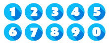 Numbers / Blue Circle Icons