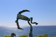 Coti-Chiavari, Corsica, France. The Symbol Of Corsica In A Sculpture And A Blue Sky