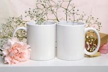 Two White Mugs, Cups. Wedding ...