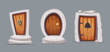Medieval Entrance Doors From Wood