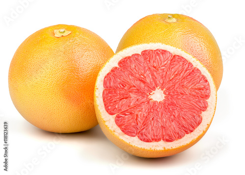 Fotografia  Fresh Red Grapefruit