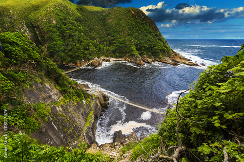 Poster Afrique du Sud Republic of South Africa. Eastern Cape province. Tsitsikamma National Park - Storms River Mouth