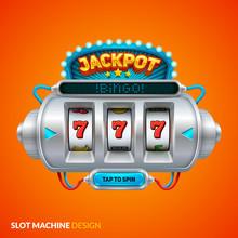 Futuristic Slot Machine Illustration